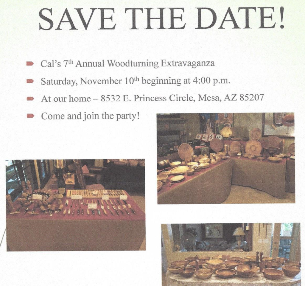 Cal's 7th Annual Woodturning Extravaganza