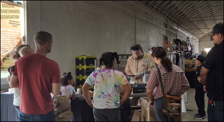 Group watching at Fair